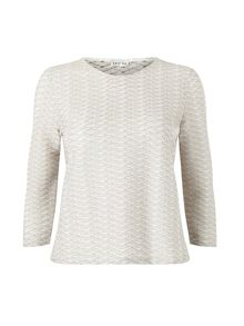 Eastex Two Tone Textured  Top