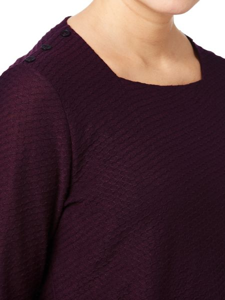 Eastex Square Neck Texture Top