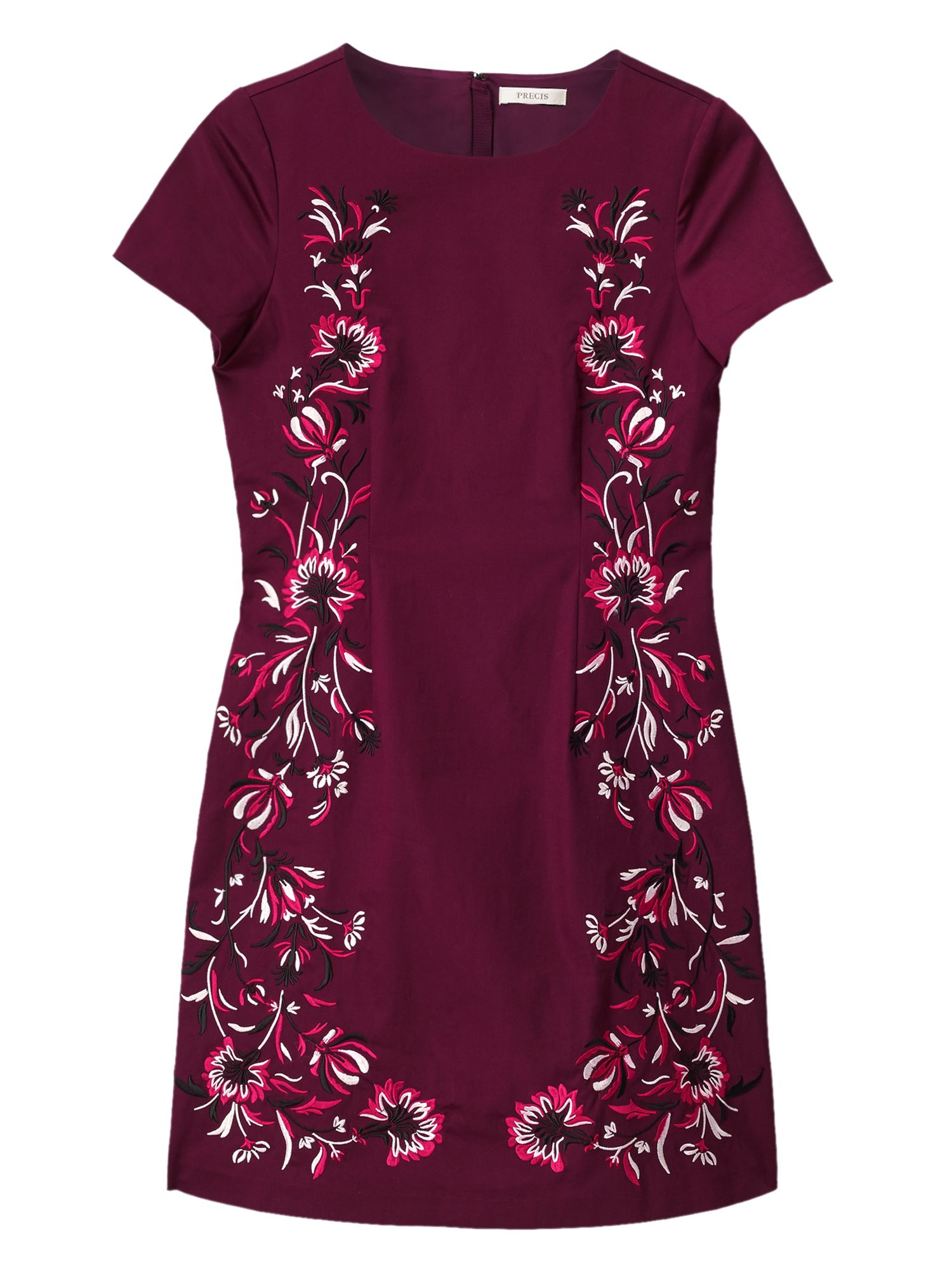 Precis Petite Dianne Embroidered Dress, Red