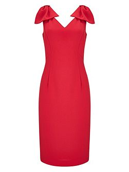 Red Bow Detail Dress