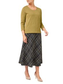 Eastex Check Textured Jersey Top