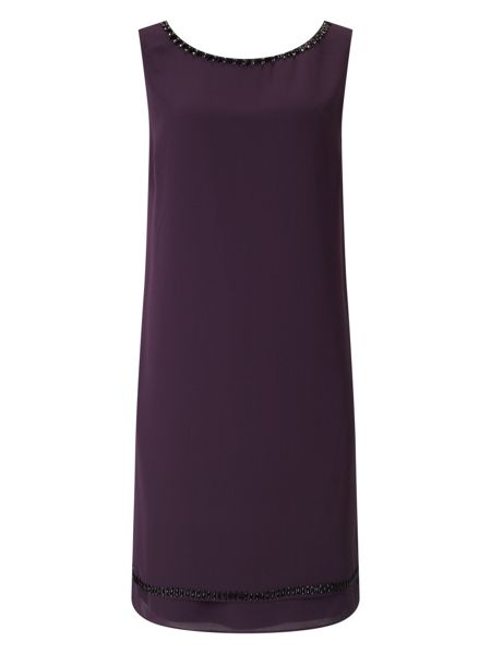 Jacques Vert Embellished Neck Dress