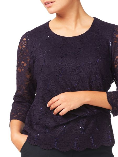 Eastex Sequin Lace Top