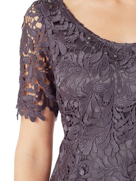 Jacques Vert Leaf Lace Dress