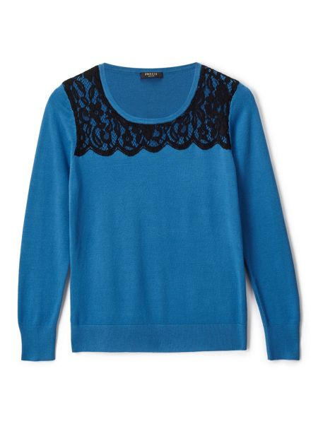 Precis Petite Alicia Lace Detail Jumper