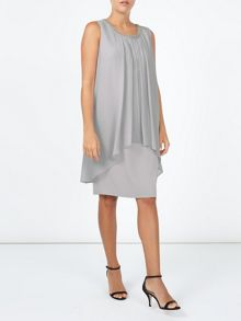 Jacques Vert Emblished Neck Layers Dress