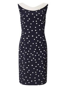 Jacques Vert Spot Crepe Dress