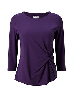 Twist Front Jersey Top