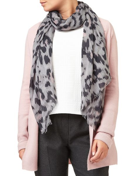 Eastex Abstract Animal Print Scarf