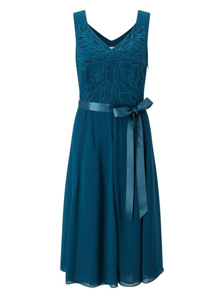 Jacques Vert Cutwork Belted Dress