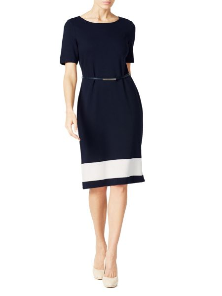 Jacques Vert Colour Block Ponte Dress