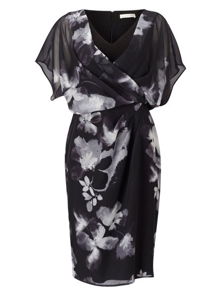 Jacques Vert Floral Wrap Soft Dress