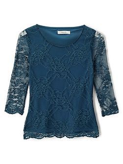 Serena Lace Jersey Top