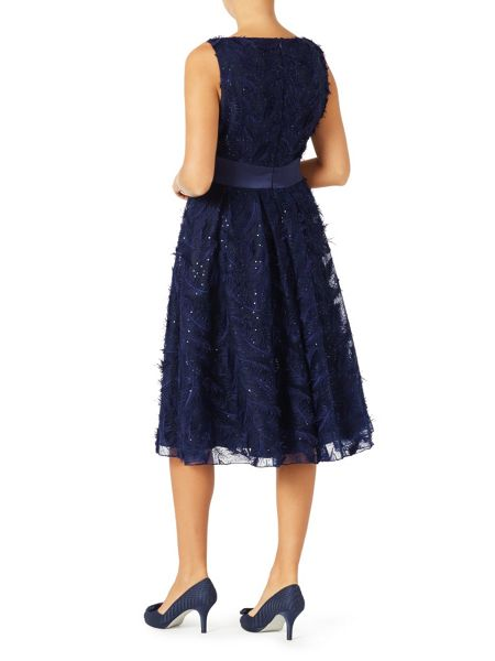 Jacques Vert Feather Sparkle Prom Dress