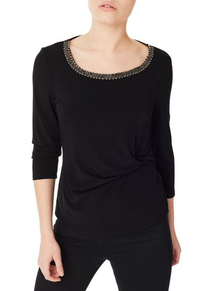 Precis Petite Embellished Jersey Top