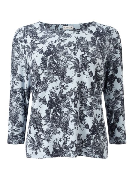 Eastex Balmoral Lace Print Top