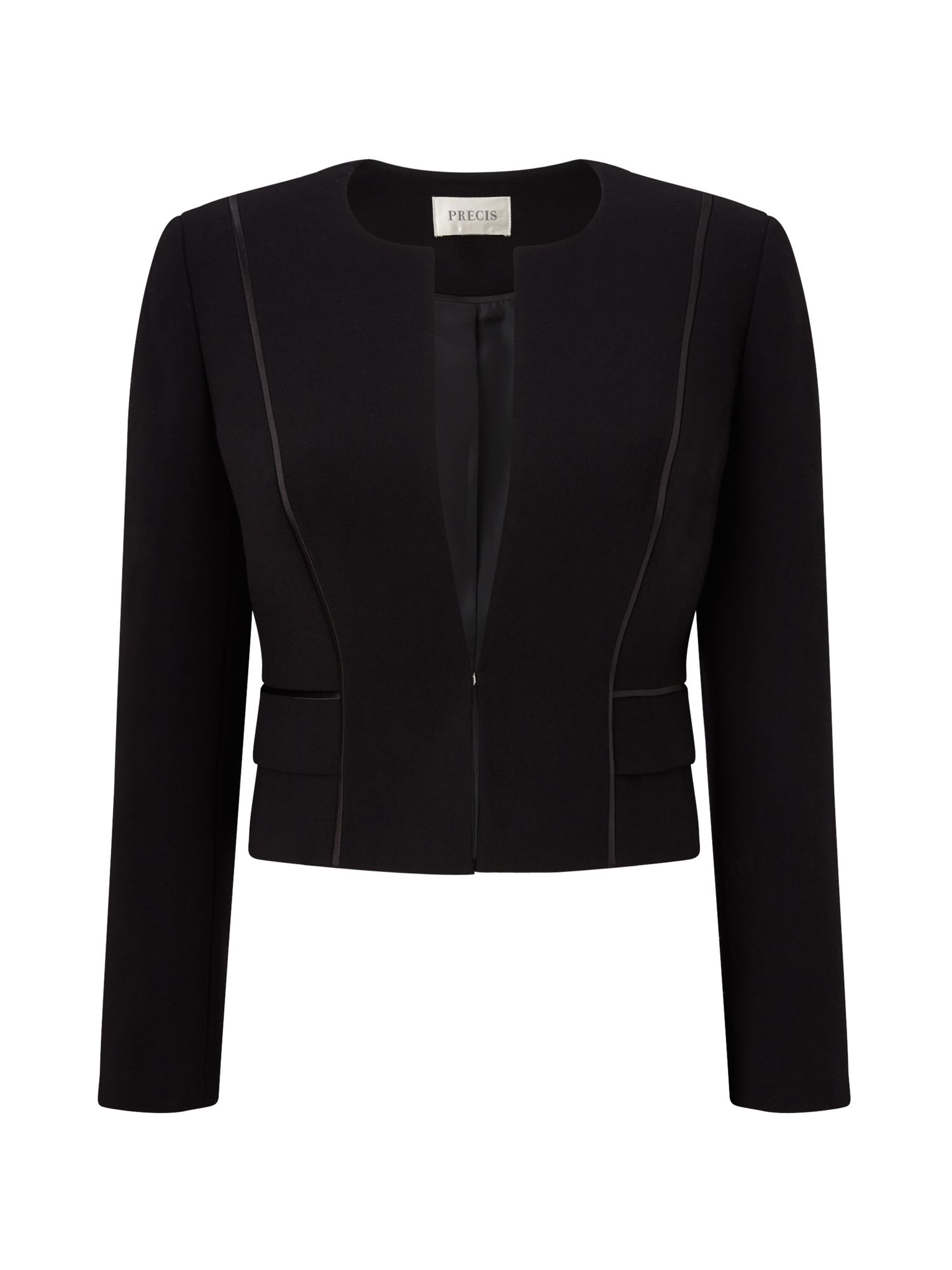 Precis Petite Rebecca Compact Cropped Jacket, Black