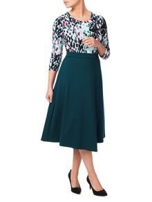 Eastex Ponte Faux Wrap Skirt