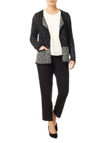 Eastex Colour Block Knitted Jacket