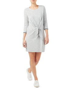 Dash Stripe Tie Front Dress