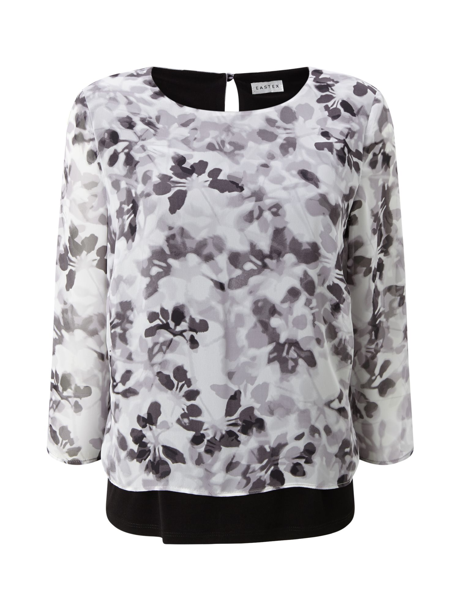 Eastex Eastex Printed Double Layer Blouse, Multi-Coloured