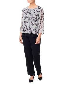 Eastex Printed Double Layer Blouse