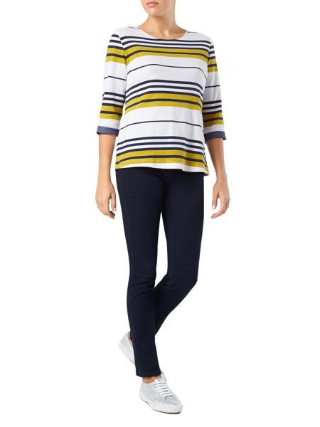 Dash Chartreuse Stripe Jersey Top