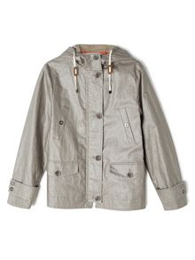 Dash Short Coated Linen Coat