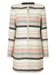 Jacques Vert Stripe Textured Jacket