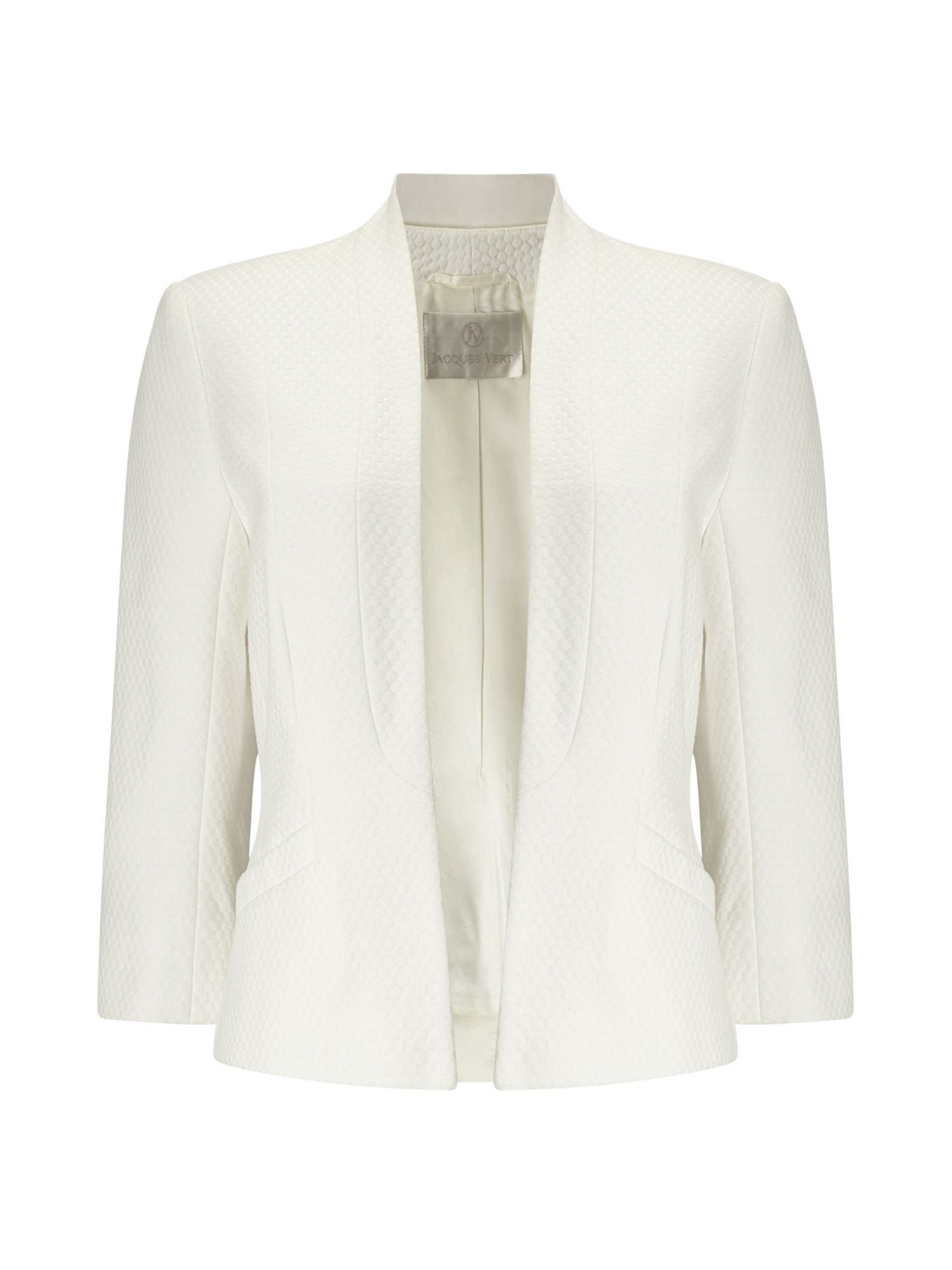 Jacques Vert Circle Texture Jacket, Neutral