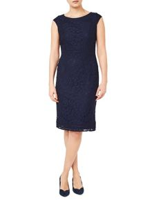 Jacques Vert Lace Fitted Dress