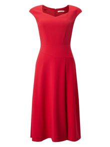 Jacques Vert Flared Crepe Dress