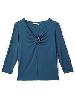 Karla V-Neck Knot Jersey Top