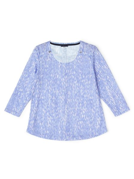 Dash Printed Tile Jersey Top