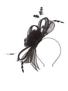 Precis Petite Black Feather Fascinator