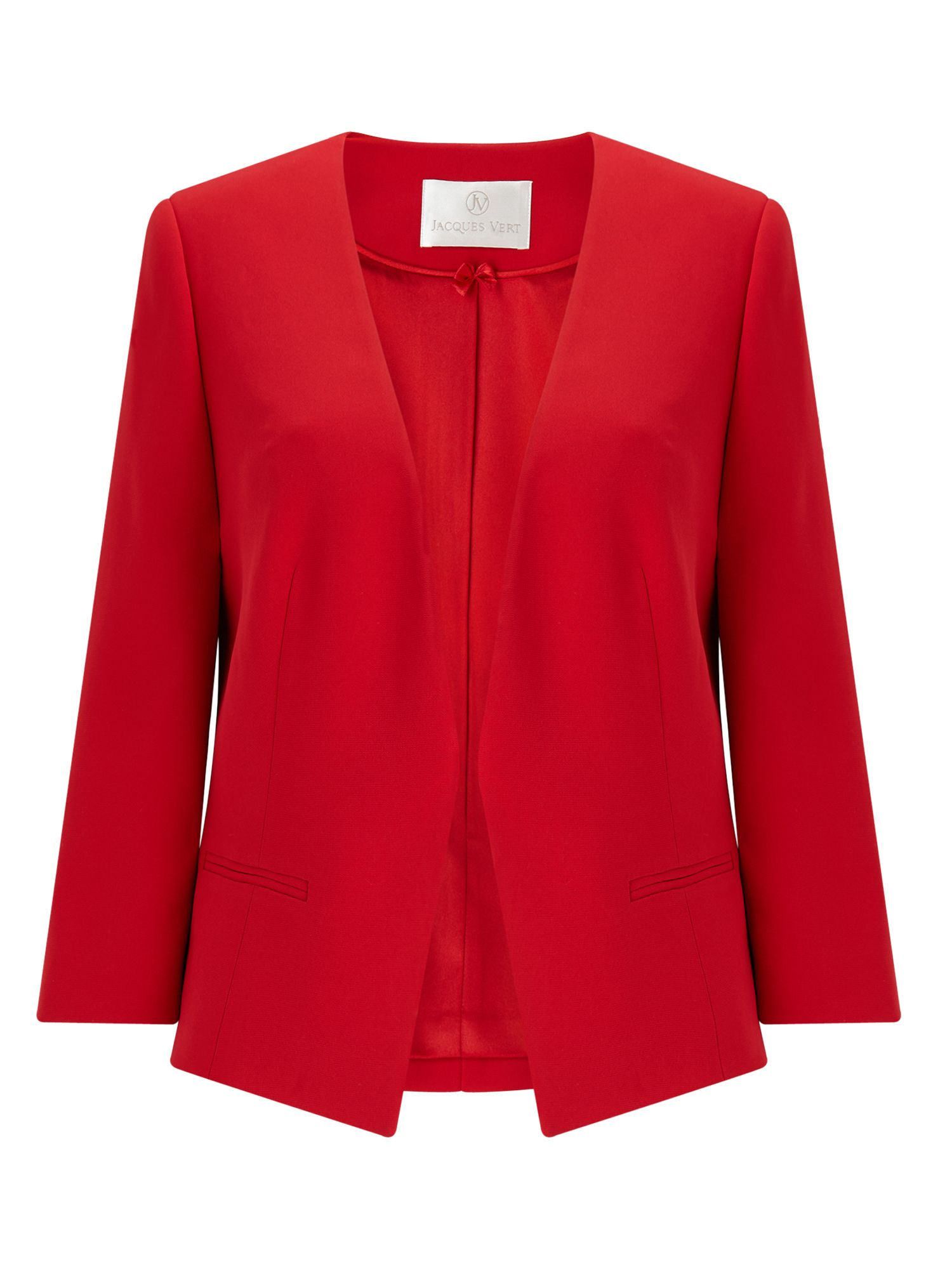 Jacques Vert Edge To Edge Jacket, Red