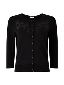 Precis Petite Kendal Embroidered Cardigan