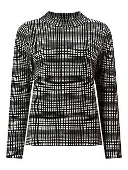 Jacquard Square Knit Jumper
