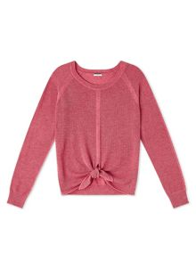 Dash Coral Tie Front Knit Top