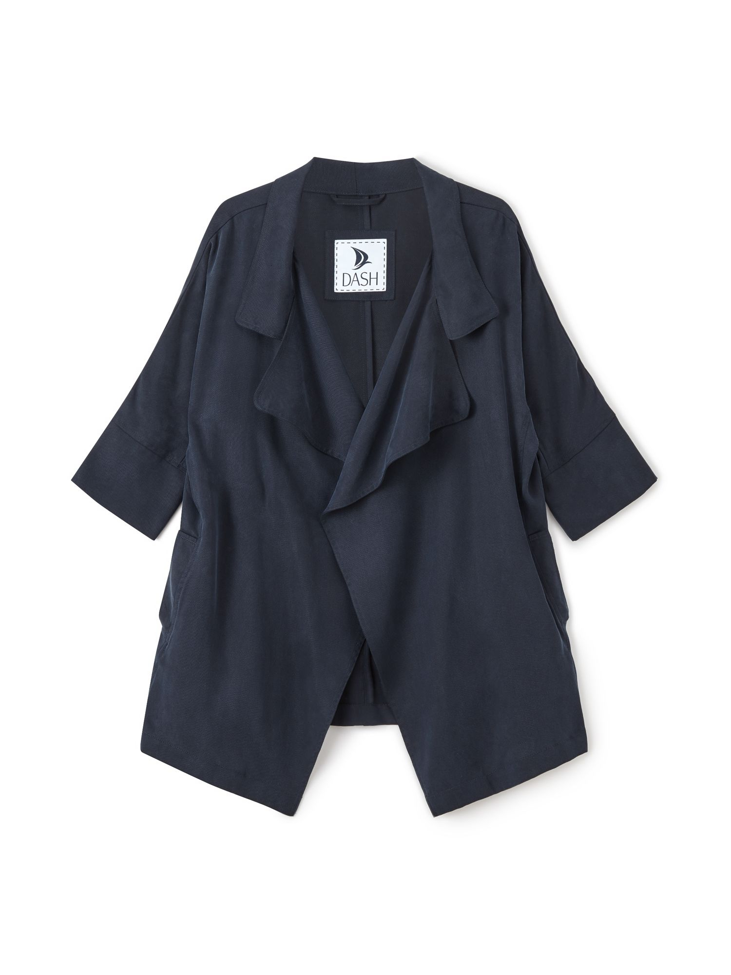 Dash Waterfall Tencel Jacket, Blue