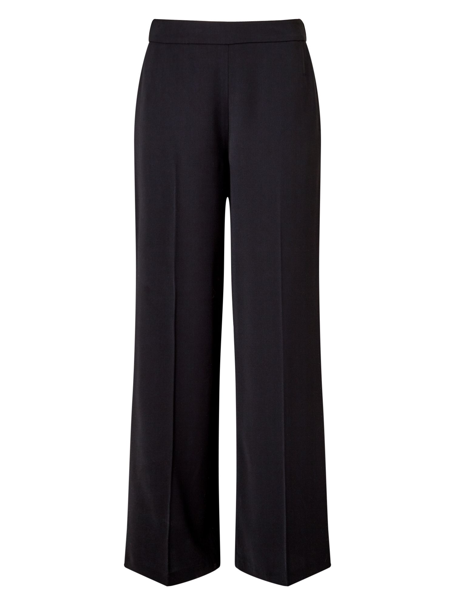 Jacques Vert Drape Crepe Fluid Trouser, Black