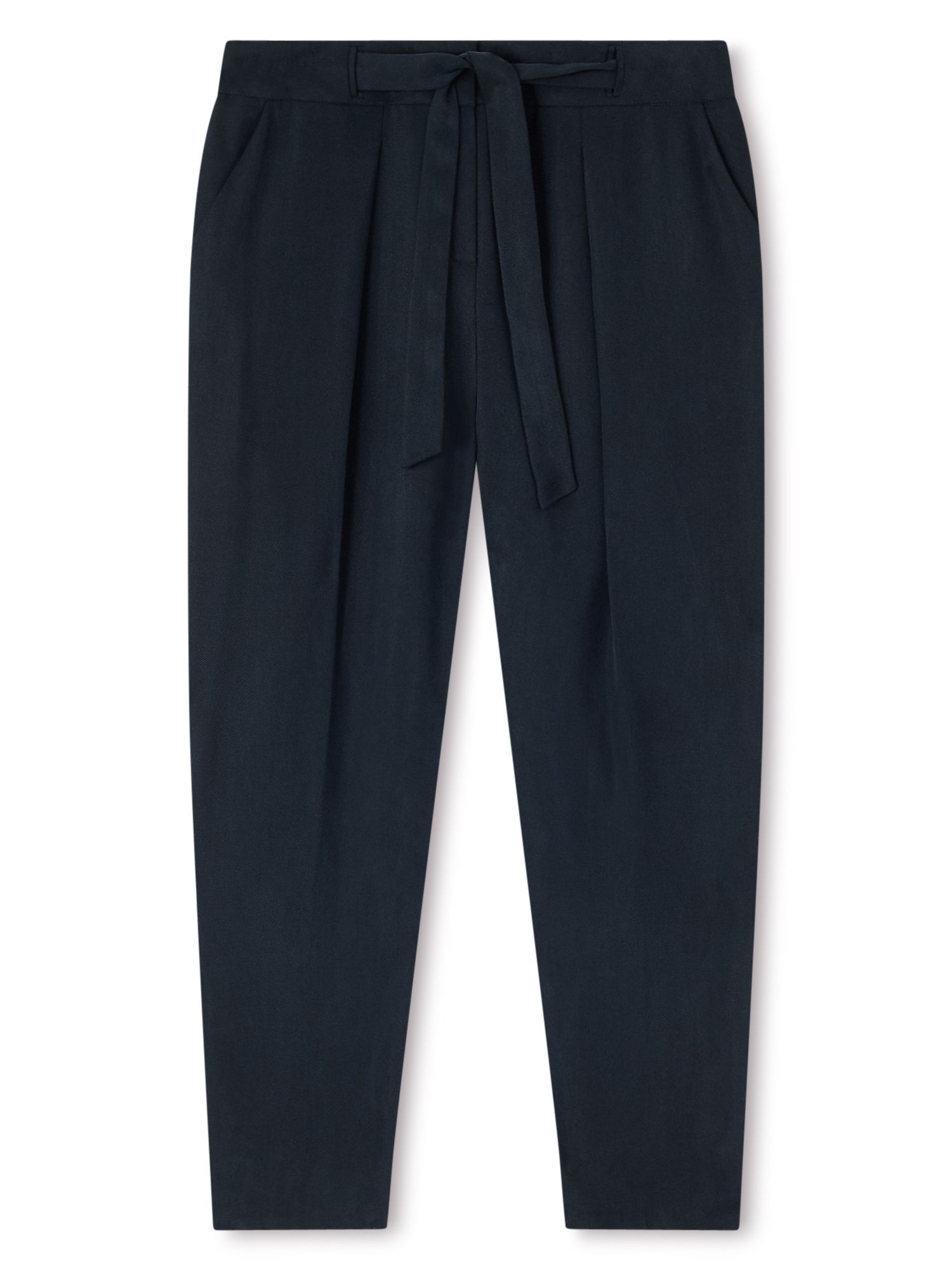 Dash Tencel Tie Waist Trousers Navy Navy