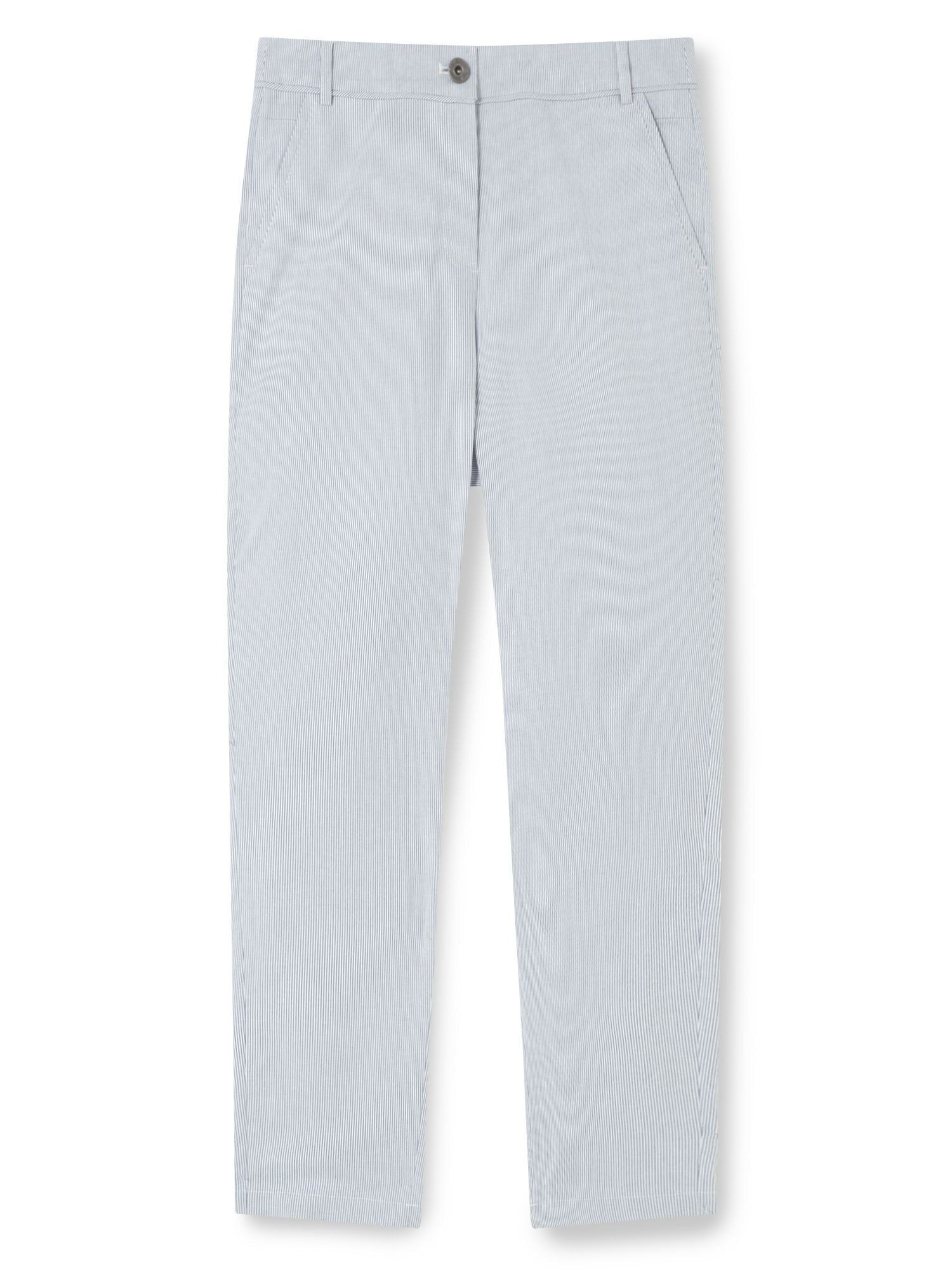 Dash Blue Ticking Stripe Trouser, Blue