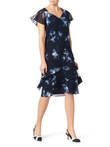 Jacques Vert Layers Soft Print Dress