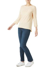 Dash Stripe Almond Jersey Top
