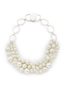 Jacques Vert Three Row Pearl Necklace