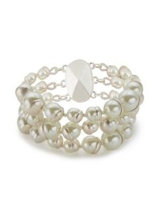 Jacques Vert Three Row Pearl Bracelet
