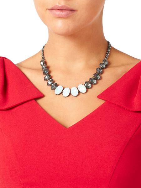 Jacques Vert Oval Multi Stone Necklace