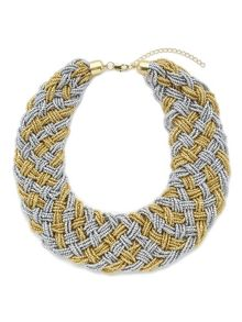 Jacques Vert Beaded Woven Necklace