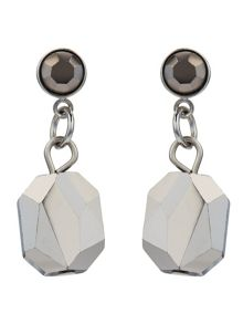 Jacques Vert Facet Glass Drop Earrings